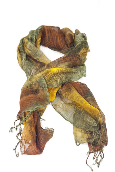 brown tie-dye scarf - Breakmood