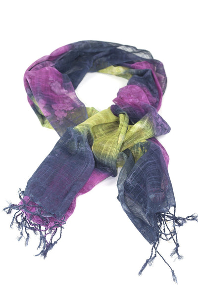purple pink green tie-dye scarf scarf chassca