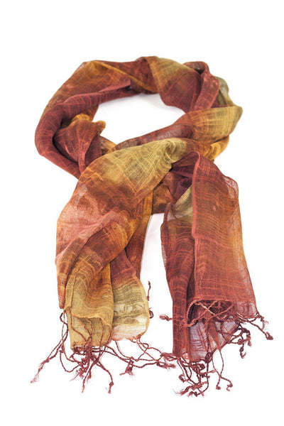 orange-yellow tie-dye scarf scarf chassca