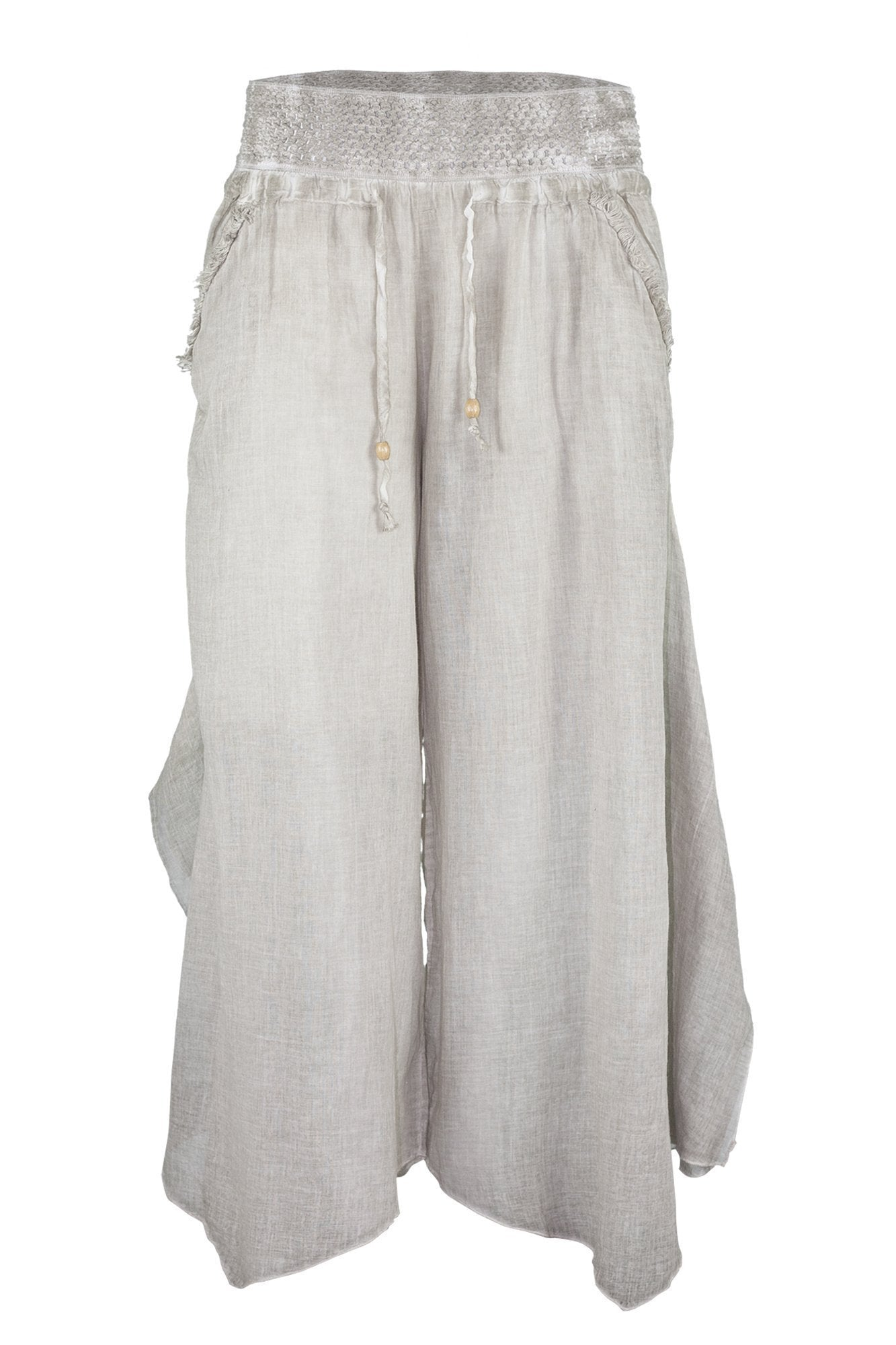 ipekci  garment dyed beige brown baggy pant trousers breakmood-2.myshopify.com