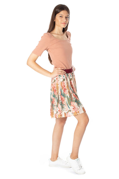 chassca floral printed midi pleated skirt - Breakmood