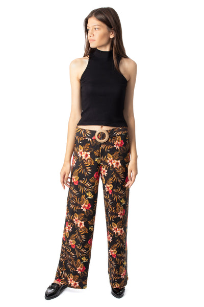 chassca floral printed wide leg pant - Breakmood