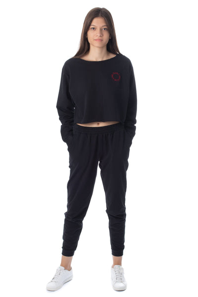 chassca cropped sweat & jogger set - Breakmood