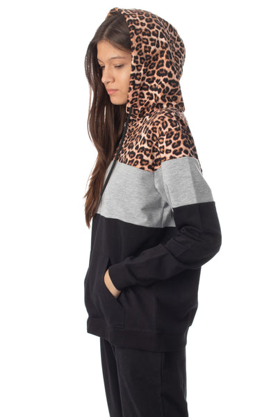 chassca 3 color leopard hoodie - Breakmood