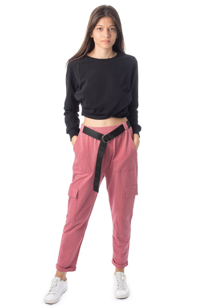 chassca cargo pant in dusty pink - Breakmood