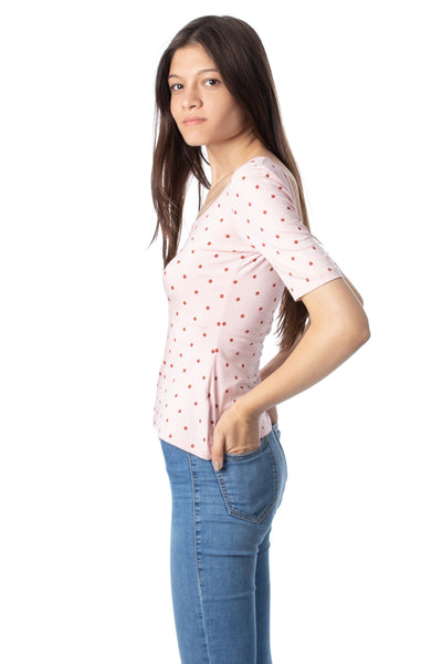 chassca scoop neck t-shirt with red spots - Breakmood