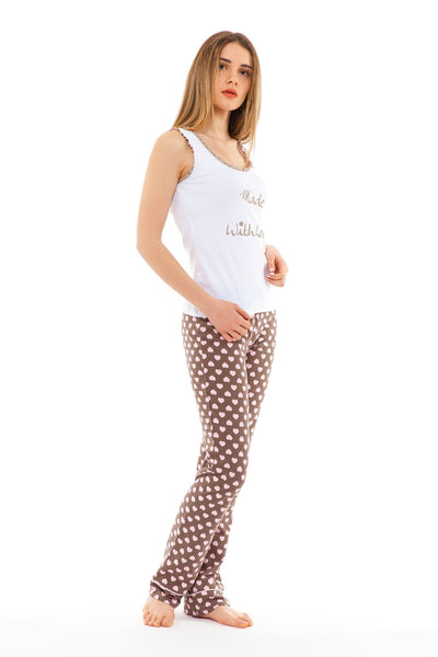 chassca singlet & pant pyjama set with made with love print - Breakmood