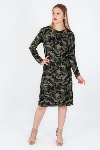 chassca shiny Camouflage printed design dress - Breakmood