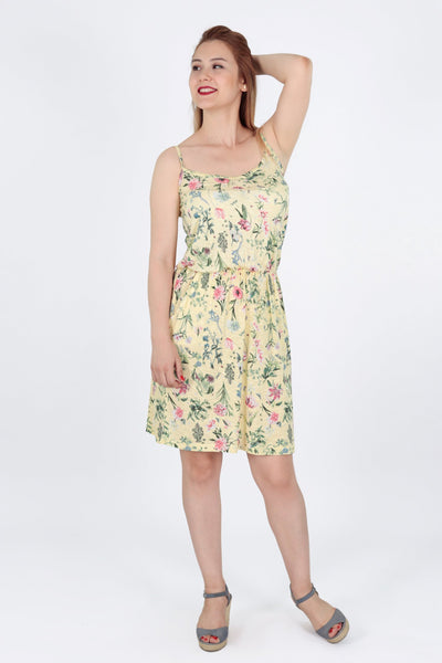 chassca printed midi floral sun dress - Breakmood