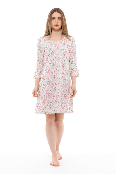 chassca happiness is... 3/4 sleeve nightdress - Breakmood