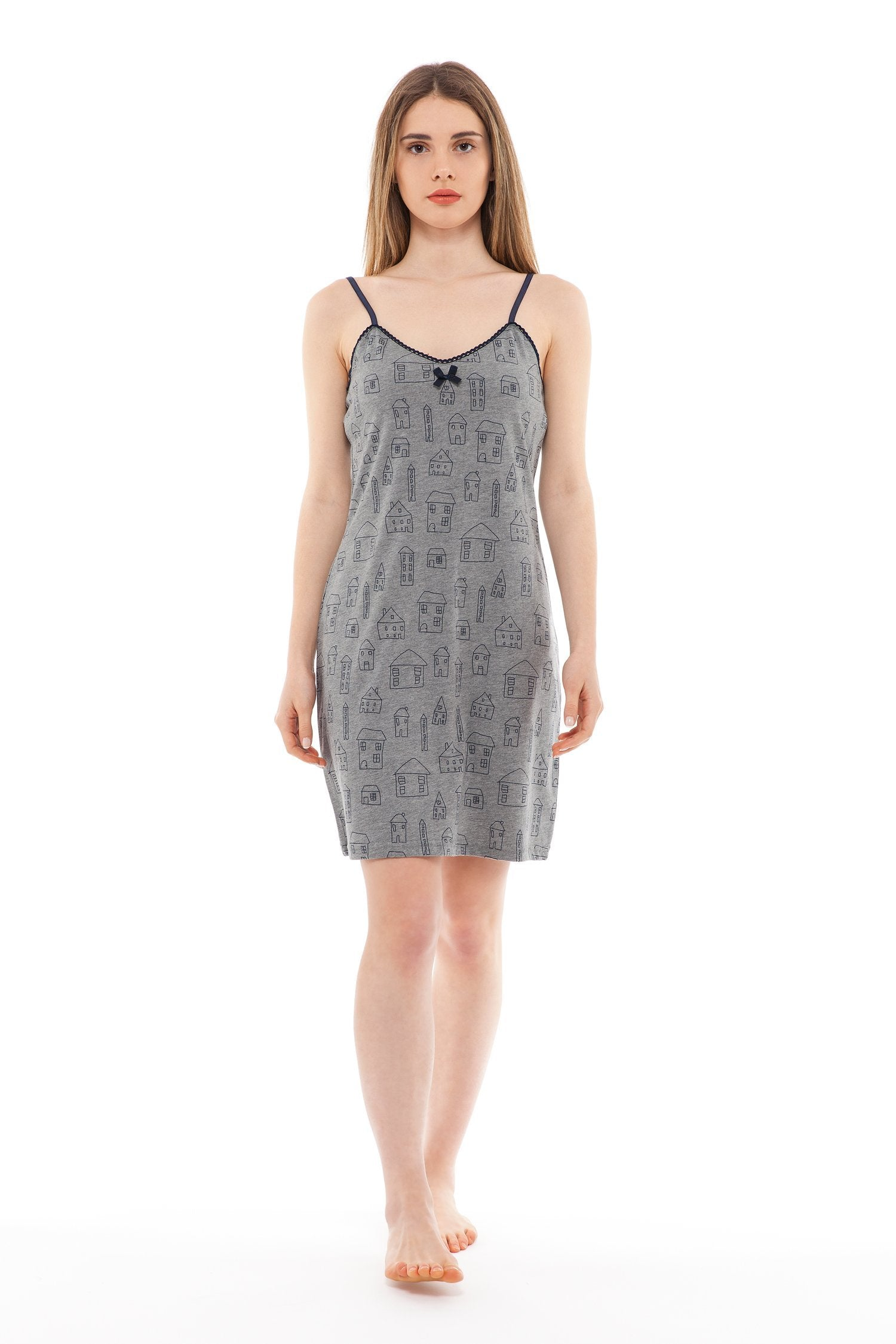 chassca nightdress with house print
