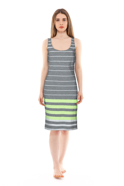 chassca bodycon stripy singlet dress - Breakmood