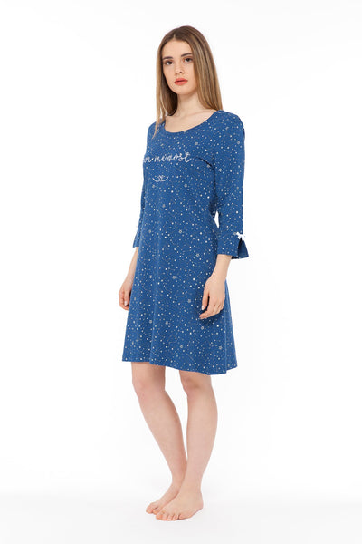 chassca galaxy print love me most nightdress - Breakmood