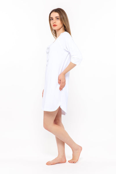 chassca 3/4 arm white nightdress - Breakmood
