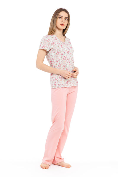 chassca butterfly print happiness is... tee & pant pyjama set - Breakmood