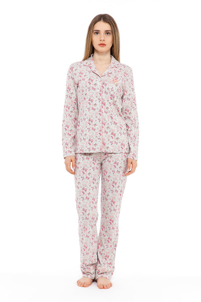 chassca jacket & pant pyjama set with butterfly print - Breakmood