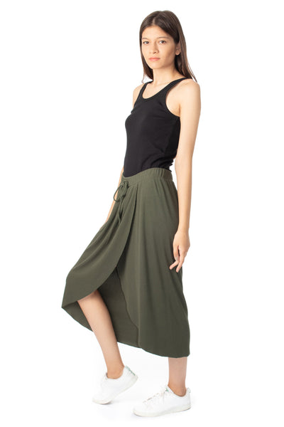 chassca front wrap  maxi skirt - Breakmood