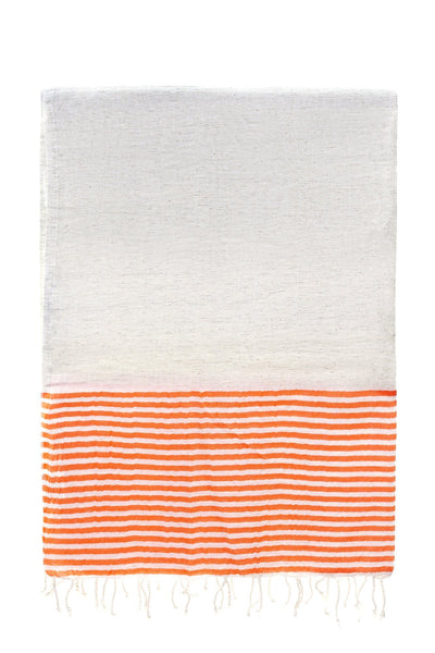 orange stripe dervish peshtemal cotton-linen-bamboo turkish towels chassca