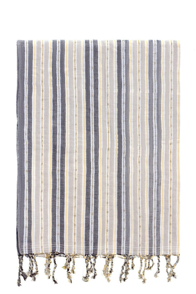 yellow grey stripe peshtemal turkish towels chassca
