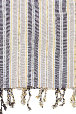 chassca  yellow grey stripe peshtemal turkish towels breakmood-2.myshopify.com