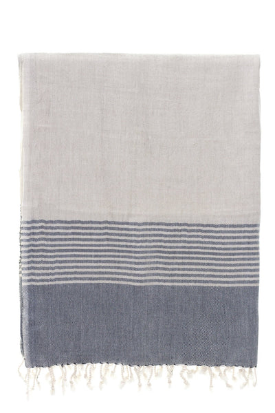 cotton linen grey stripe galata peshtemal turkish towels chassca