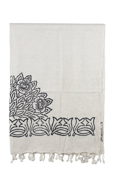 stone printed cotton-linen peshtemal turkish towels chassca