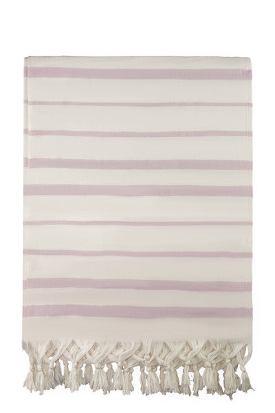 pink stripe peshtemal turkish towels dost