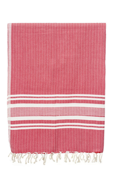 sultan red stripe peshtemal turkish towels chassca