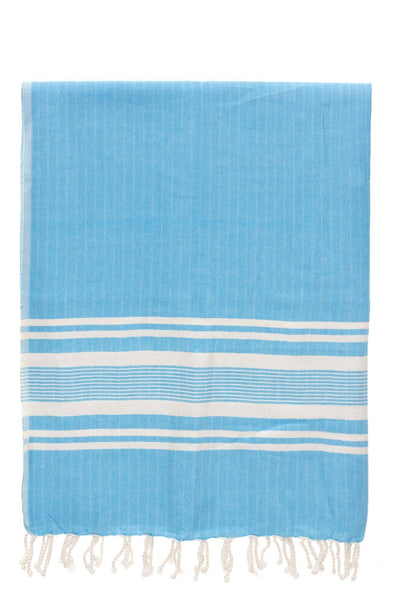 sultan soft blue stripe peshtemal turkish towels chassca