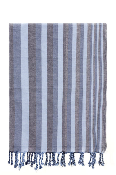navy blue stripe peshtemal turkish towels chassca