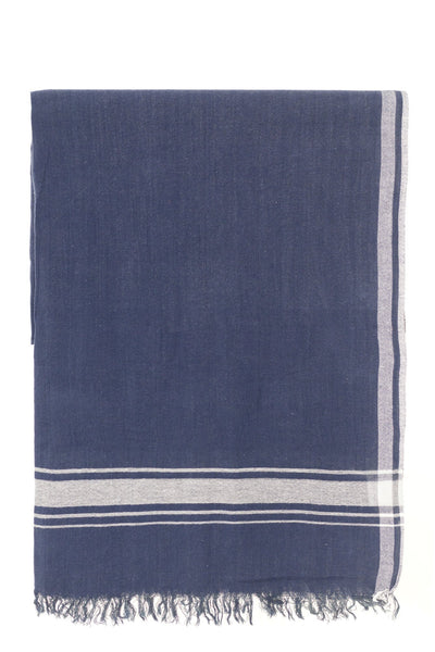 hera navy peshtemal turkish towels chassca