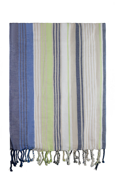 green blue stripe peshtemal turkish towels chassca