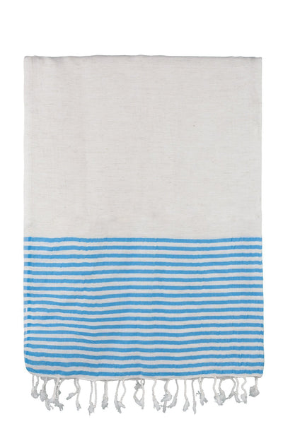 turquoise stripe dervish peshtemal cotton-linen-bamboo turkish towels chassca