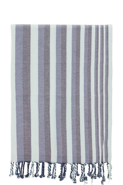 turquoise blue stripe peshtemal turkish towels chassca