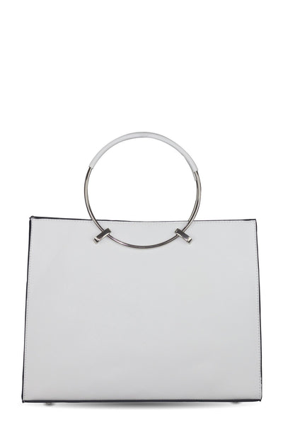 chassca white faux leather handbag bags chassca