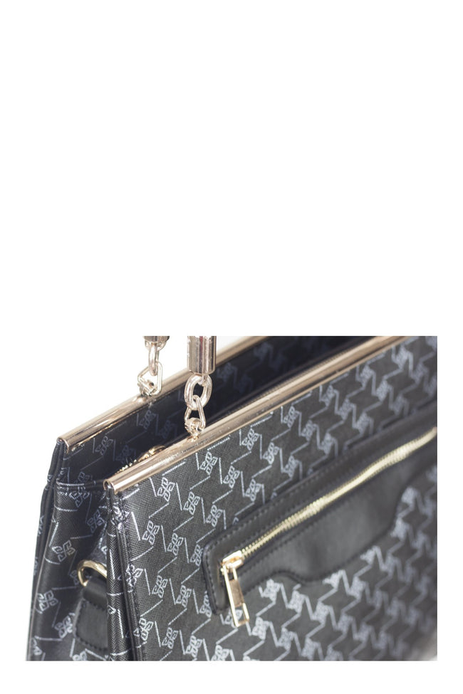 chassca-bags-chassca black printed hand bag-Color black -breakmood.com price : $89.00