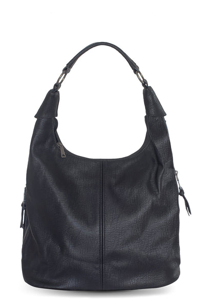 chassca black vintage faux leather bag - Breakmood