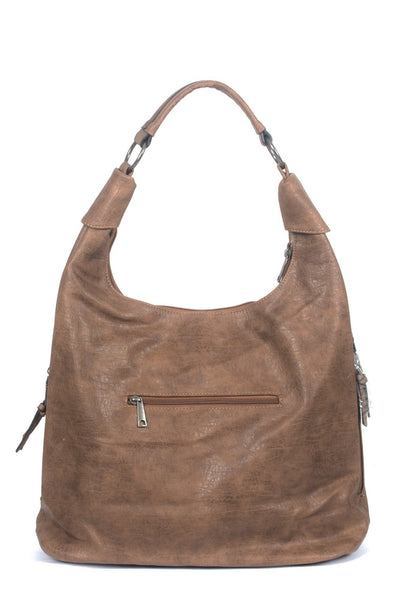 chassca brown vintage faux leather bag - Breakmood