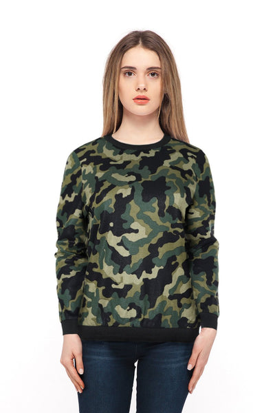 chassca shiny Camouflage printed design long sleeve sweatshirt - Breakmood