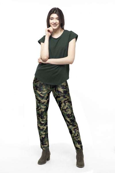 chassca shiny Camouflage printed design pant - Breakmood