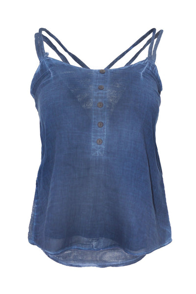 garment dyed denim look cami top top ipekci