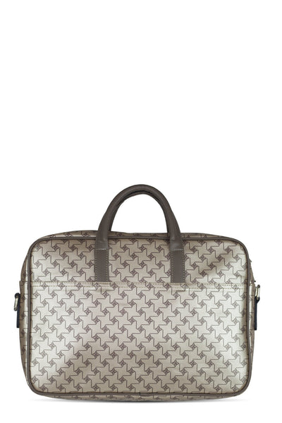 chassca gold color printed laptop bag - Breakmood