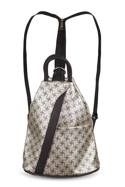 chassca gold color printed backpack - Breakmood