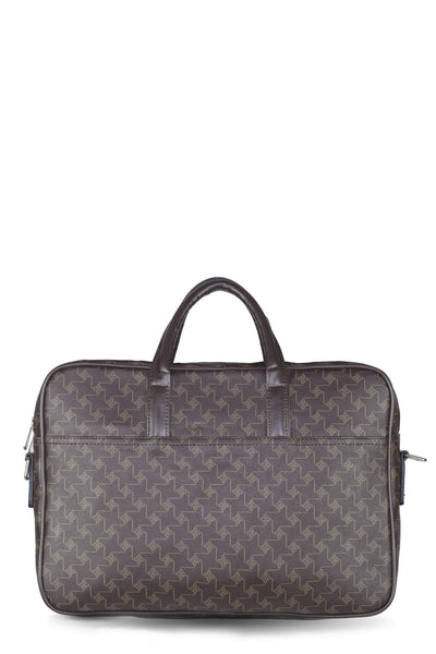 chassca brown printed laptop bag - Breakmood