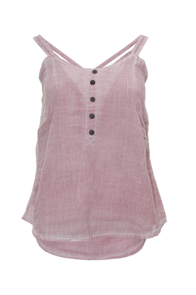 garment dyed light pink cami top top ipekci