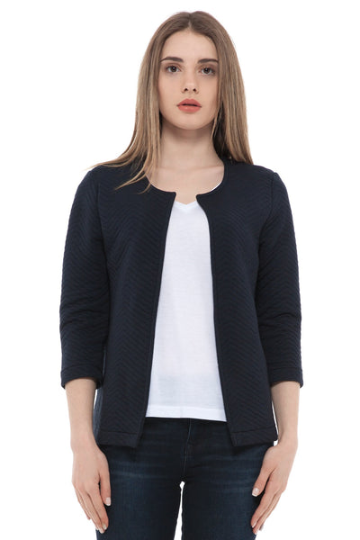 chassca navy quilted 3/4 arm jacket - Breakmood