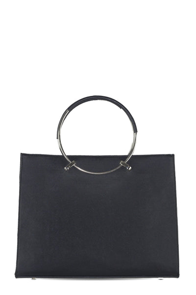 chassca black faux leather handbag - Breakmood