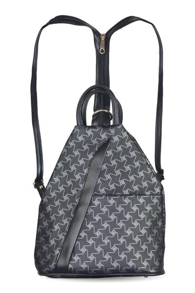 chassca black printed backpack - Breakmood