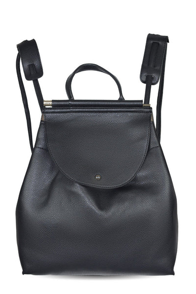 chassca faux leather black backpack - Breakmood