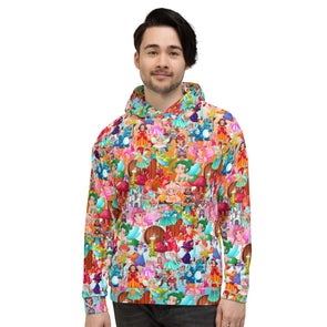 Colourful cartoons 3d printed hoodie for man